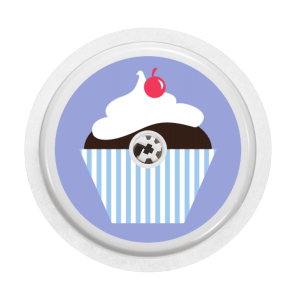 freestyle-libre-sticker-cupcake-muffin